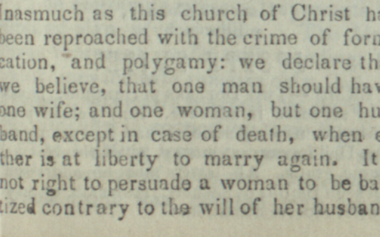 Joseph Smith's Polygamy Denials